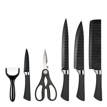 6PCS Non-Stick Coating Finish Knife Set