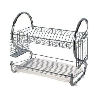 2 Layers Stainless Dish Drainer